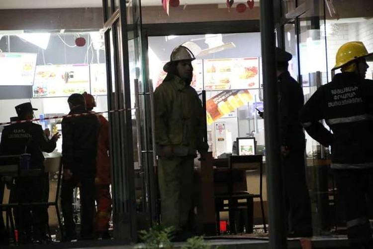 Взрыв в Burger King в Ереване. Фото: twitter.com/@avanesov_art