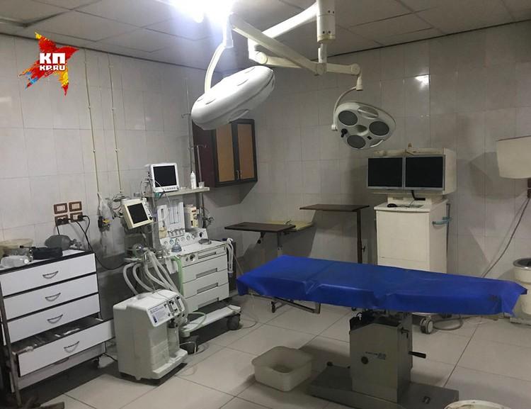 Местная операционная комната.