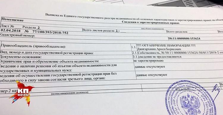 Выписка из государственного реестра.