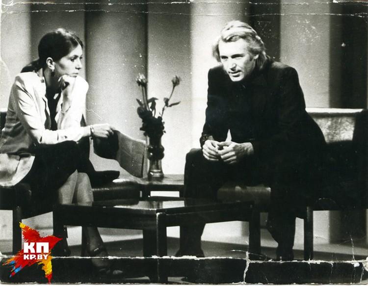 Так выглядили телевстречи с театральными звездами на советском БТ: Вера Савина и Станислав Любшин. Фото: архив Веры Савиной