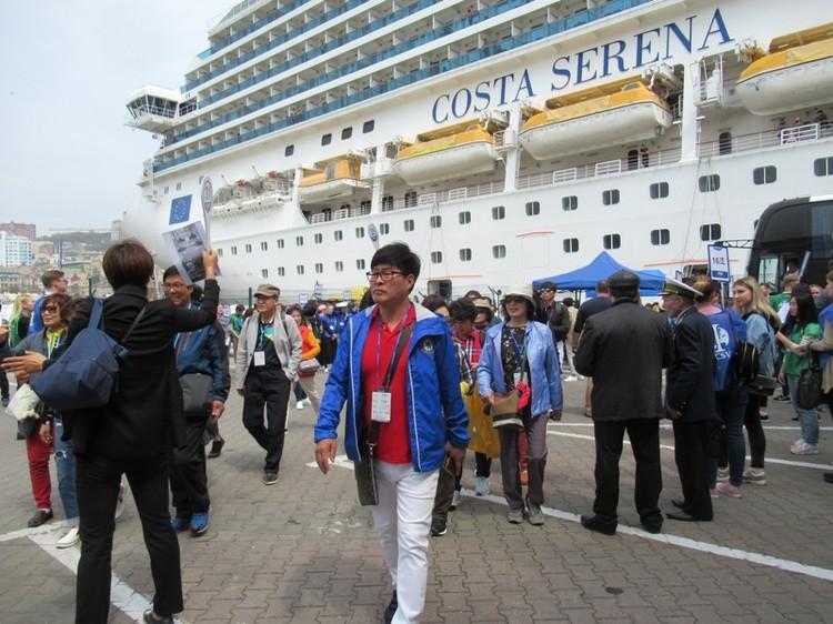 Costa Serena впервые пришвартовалась во Владивостоке