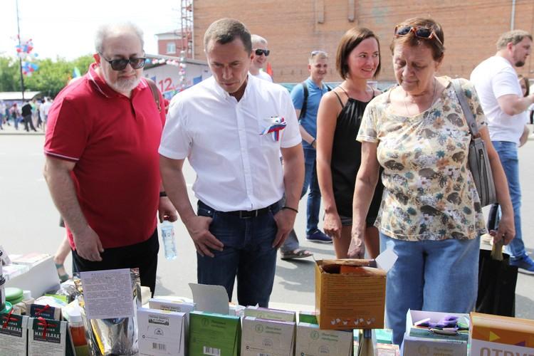 Иркутяне и почетные гости праздника интересовались здоровой продукцией «Полезный РАцион».