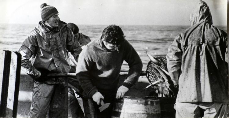 Промысел сельди в 70-х годах. Фото из личного архива Владимира Михайловича Егорова.
