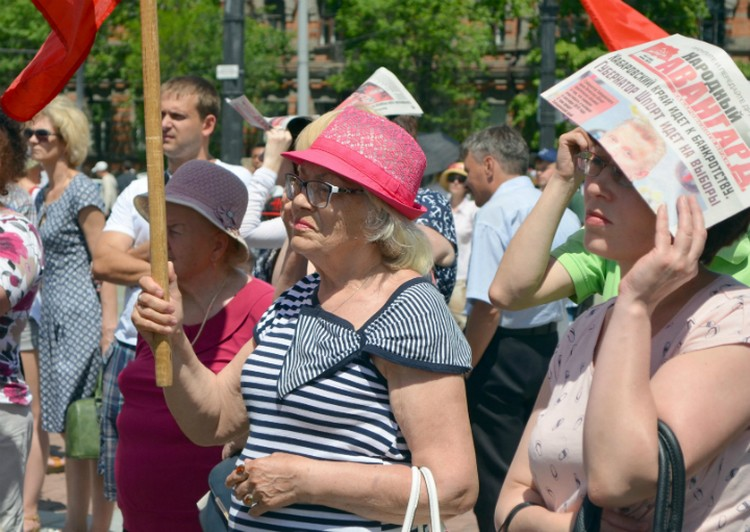 Хабаровские коммунисты выразили свое недовольство новыми законопроектами.