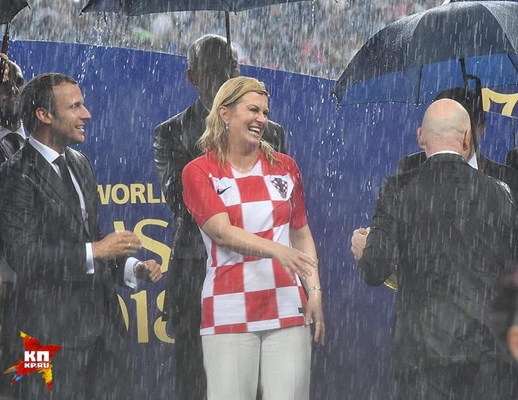 Колинда Грабар-Китарович оказалась вымокшей с ног до головы