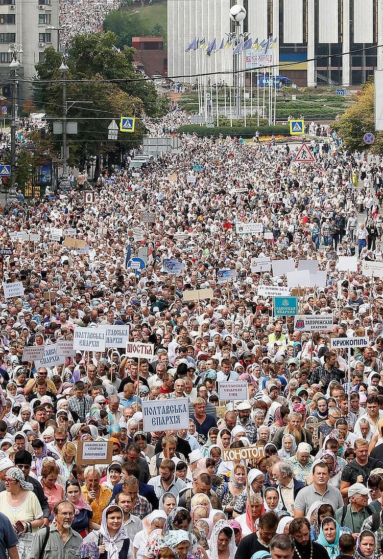 Крестный ход в Киеве собрал порядка 250 тысяч паломников.