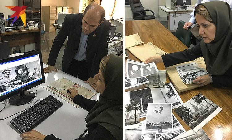 Фотоархив газеты «Ettelaat Daily». Российским журналистам показывают уникальные снимки со встречи Сталина, Рузвельта и Черчилля в 1943 году