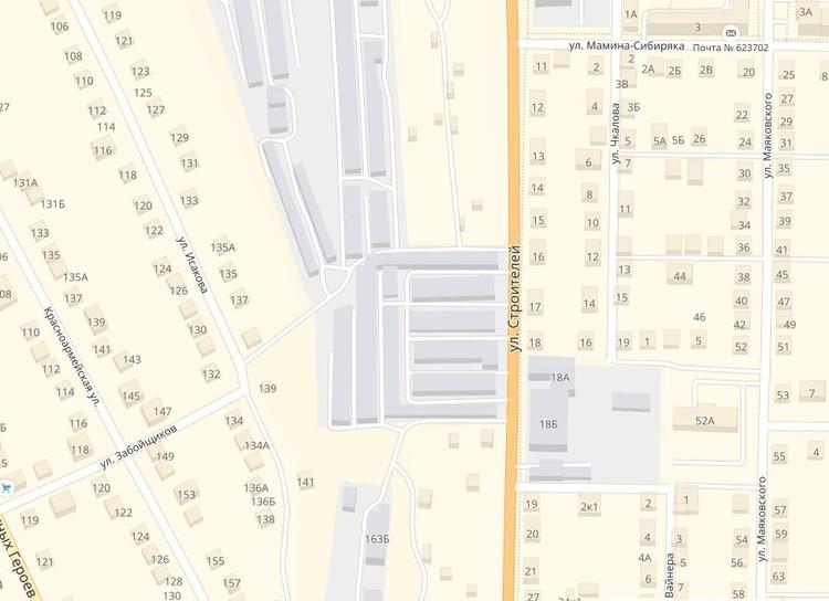 Район, где было совершено убийство. Фото: Яндекс.Карты