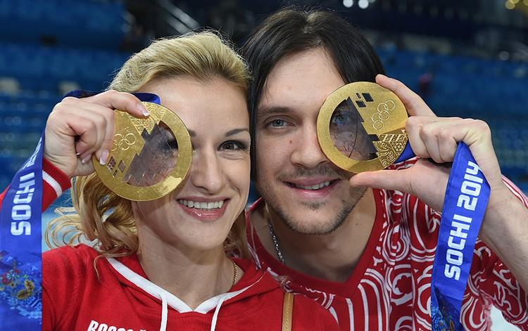 Максим Траньков и Татьяна Волосожар выиграли две золотые медали на Олимпиаде в Сочи в 2014-м году