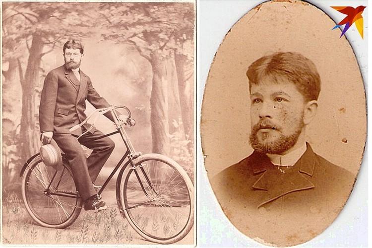 Варшавские фотографы Викентий (на велосипеде) и Осип Боретти сразу стали минскими знаменитостями.