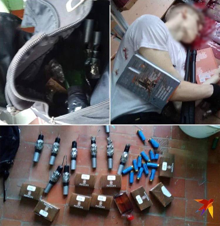 На фотографиях с места преступления отчетливо видны десять коробок с патронами