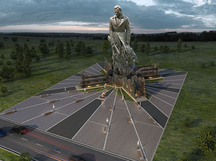Проект будущего монумента под Ржевом. ФОТО rvio.histrf.ru