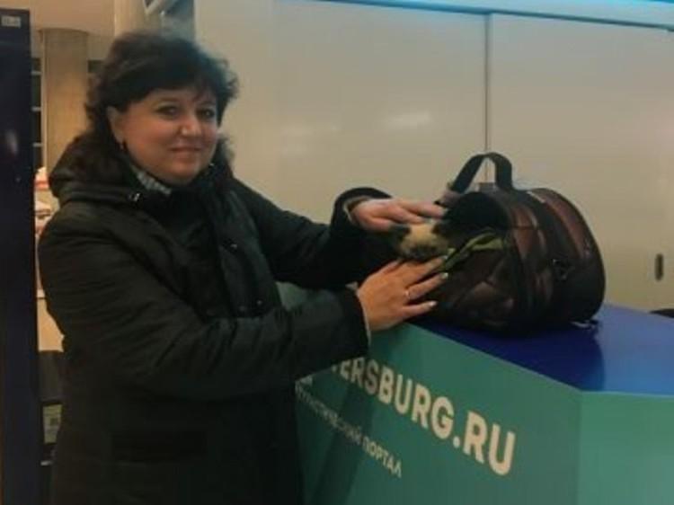 Ольга Вороная вместе с Масяней в Питере. Фото: Светлана Ципровская.