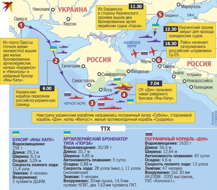 Карта и хронология конфликта