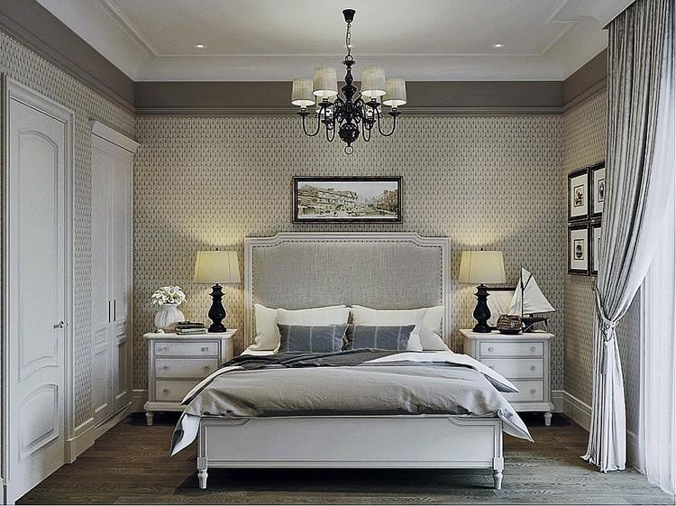 Гостевая спальня выполнена в 50 оттенках бежевого, что делает помещение скучноватым. ФОТО: estee-design.ru