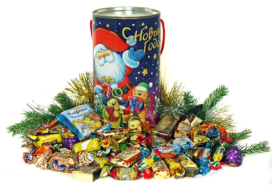сомнительного картинка подарочные конфеты новогодние ней