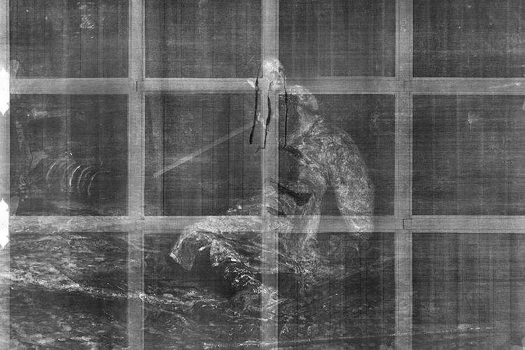 Рентгеновский снимок картины. ФОТО: Пресс-служба Государственной Третьяковской галереи.