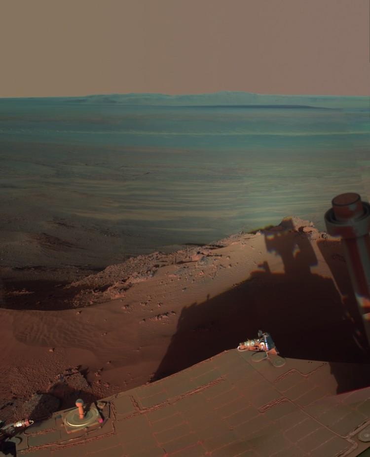 Место последнего упокоения Opportunity: кратер Эндевор, Долина Упорства.