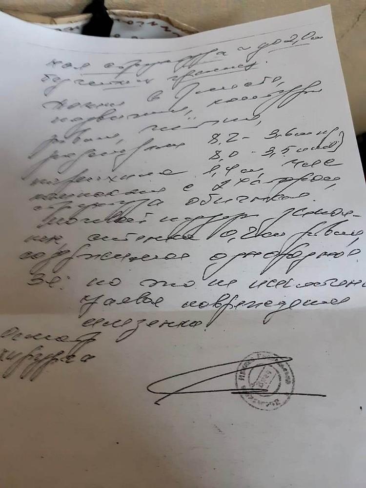 Кира Лысенко предусмотрительно сфотографировала листок с заключением врачей на камеру мобильного телефона. Чуть позже результаты УЗИ бесследно исчезли.