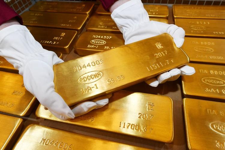 Россия активно пополняла в последние годы свой золотой запас.