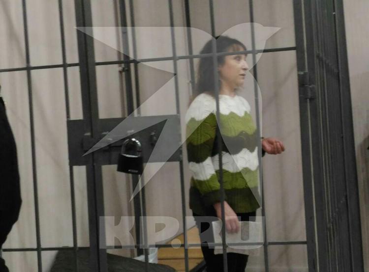 Наталья Бакшеева в зале суда