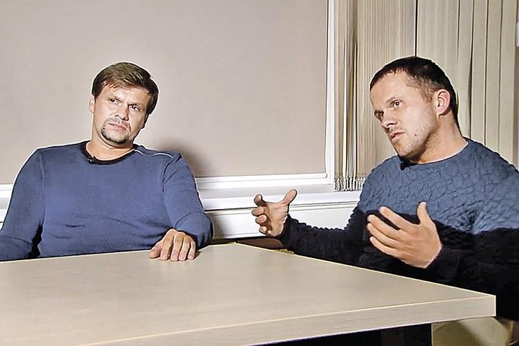 """В покушении англичане обвинили двух """"офицеров"""" Руслана Боширова и Александра Петрова"""