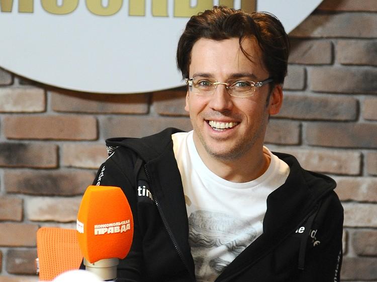 Максим Галкин на радио `Комсомольская правда`.
