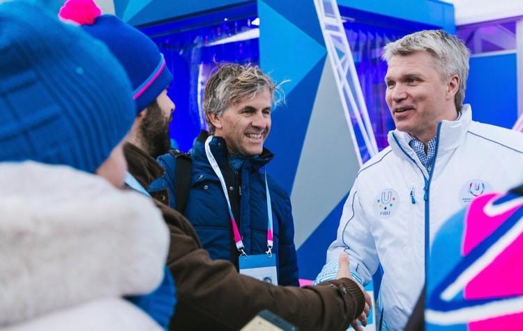 Новые встречи и новые знакомства. Команду проекта приветствует Павел Колобков, министр спорта России. Фото: Follow Up Siberia