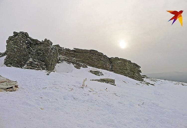 """Специалистам предстоит работать на том самом холме, где 60 лет назад разбила свой лагерь группа Дятлова. (Фото из экспедииции """"КП"""" на перевал Дятлова 2014 г.)"""