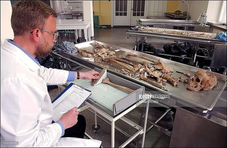 Так выглядит работа антрополога Янкаускаса: здесь он занимался исследованием останков солдат войны 1812 года. Фото: Getty Images