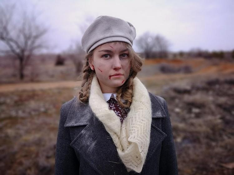 """Так Настя будет выглдеть в роли Клавдии Паньчишкиной. Фото предоставлено съемочной группой фильма """"Отряд""""."""