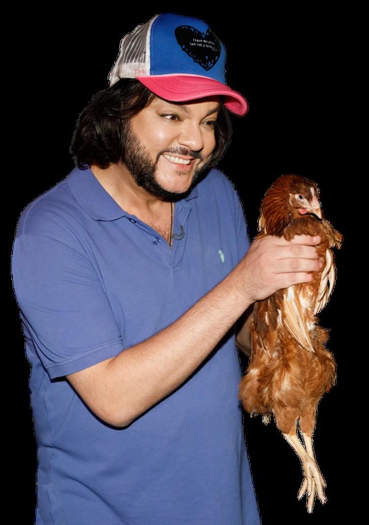 Курица во время съемок не пострадала.