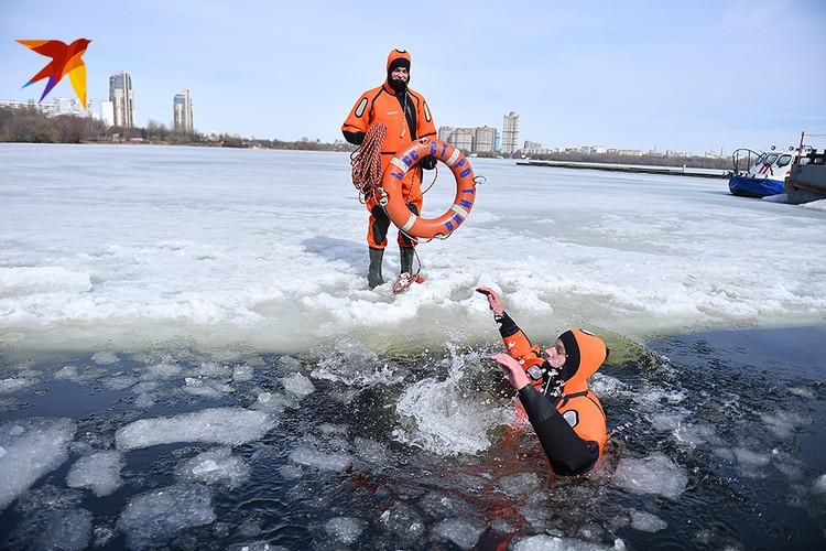 Условная Арктика в Строгинском затоне