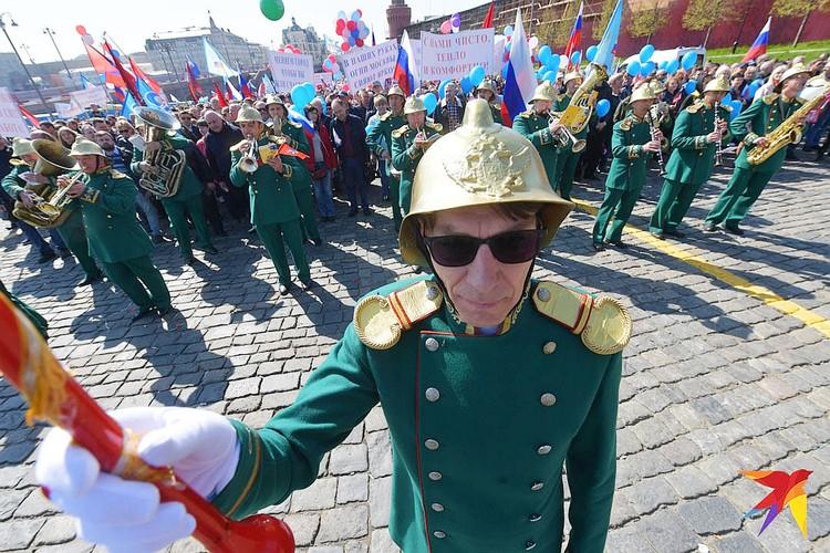 Духовой оркестр на Красной площади