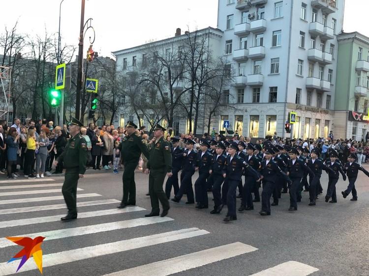 Воспитанники Тюменского президентского кадетского училища