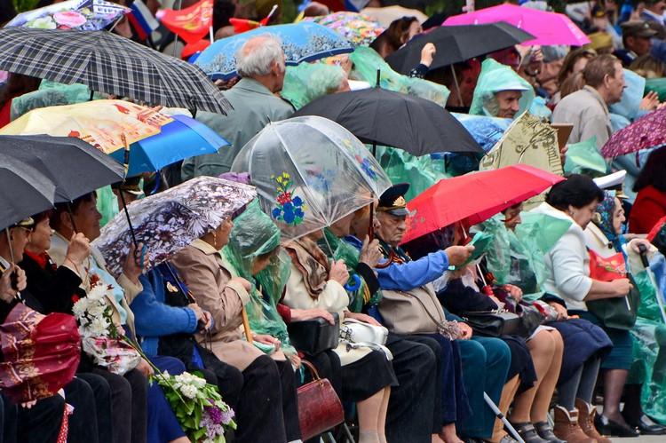 Дождь не помешал проведению парада