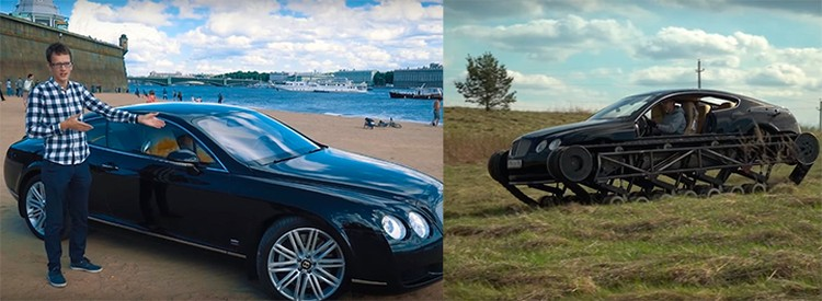 Bentley Continental Константин Заруцкий купил за миллион 450 тысяч рублей, поэтому без раздумий пустил на распил.