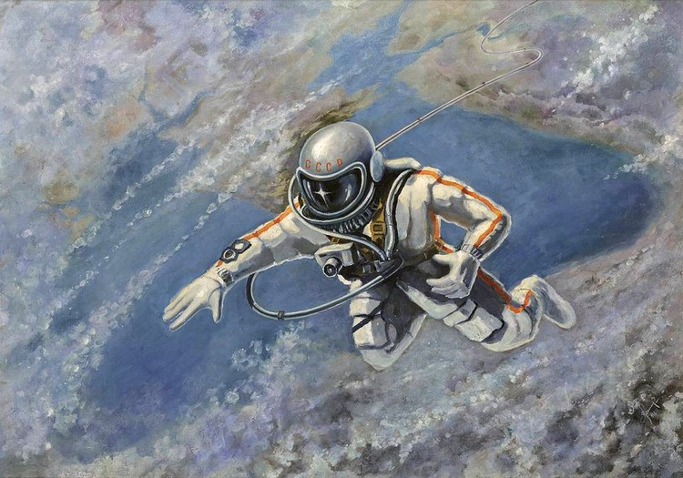 """Картина Алексея Леонова """"Над Черным морем"""", 1973 г."""