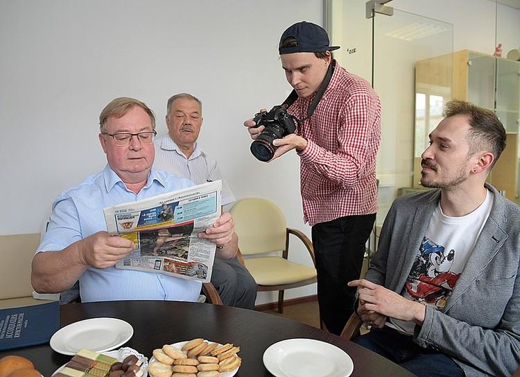 В редакции «Комсомолки» побывал Сергей Степашин