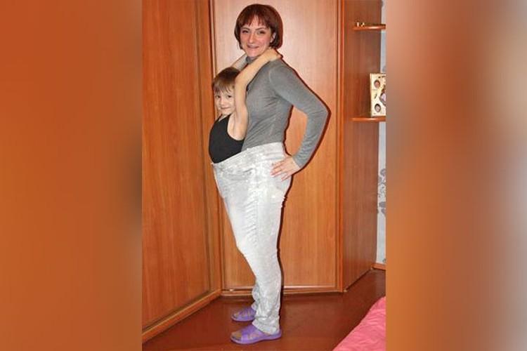 После похудения подходящей одежды в гардеробе Надежды уже не было.