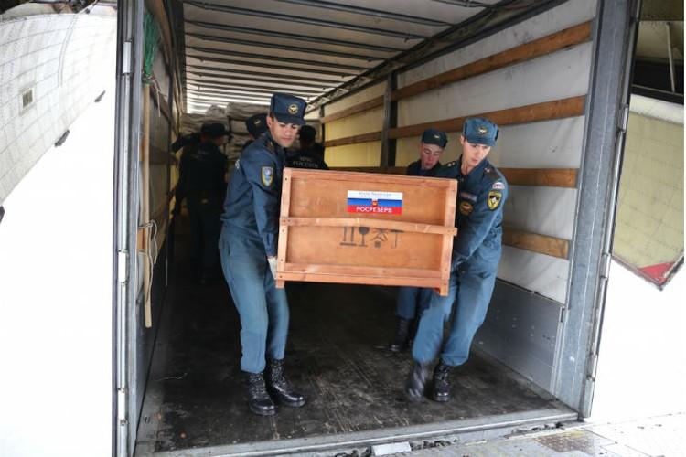 МЧС России доставляет гуманитарную помощь в Иркутскую область. Фото: ГУ МЧС России.