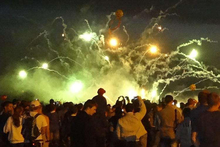 Салют на День города в Тюмени - 2019.