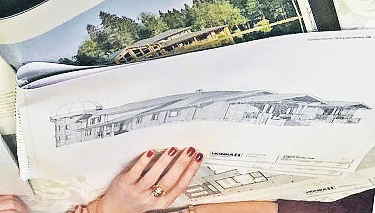 Схема нового жилья Собчак. Фото: instagram.com/xenia_sobchak
