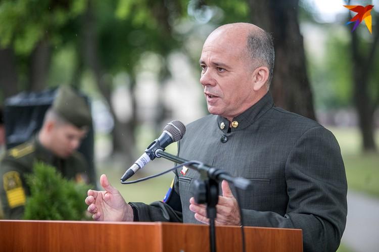 На церемонии присутствовал посол Венесуэлы в Беларуси Хосе Хоакин.