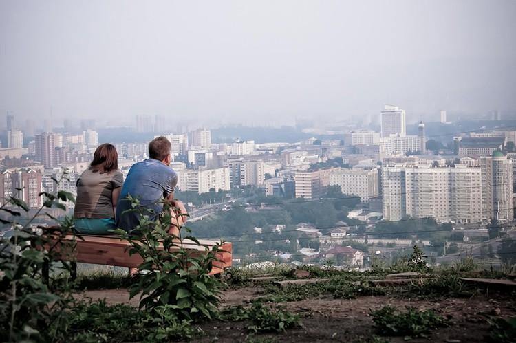 Город затянуло дымом. Фото: Владимир КОРЕЦКИЙ