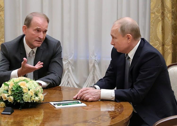 Владимир Путин встретился в Таврическом дворце с Виктором Медведчуком