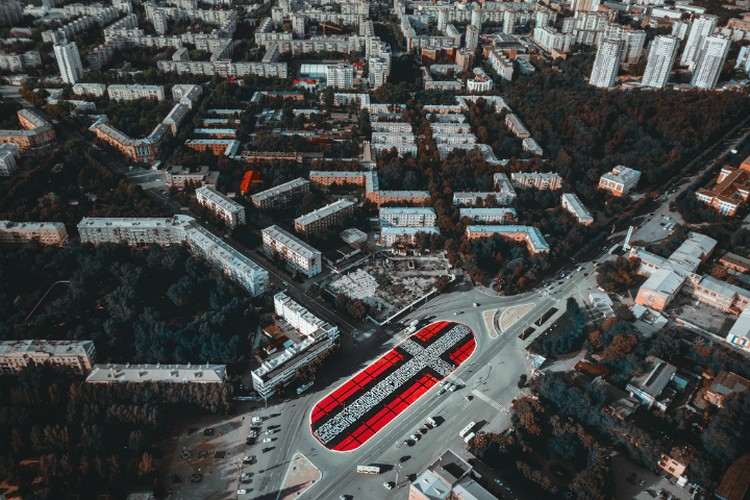 """Эта роспись на Уралмаше заняла территорию в 6686 квадратных метров Фото: пресс-служба """"Стенограффии"""""""