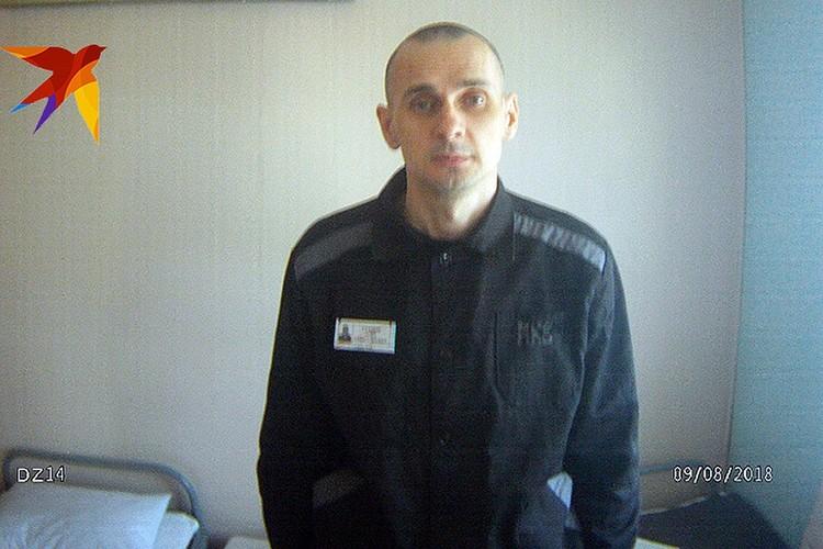 Сенцов осуждён Северо-Кавказским окружным судом за терроризм. Фото: Пресс-служба уполномоченного по защите прав человека в РФ
