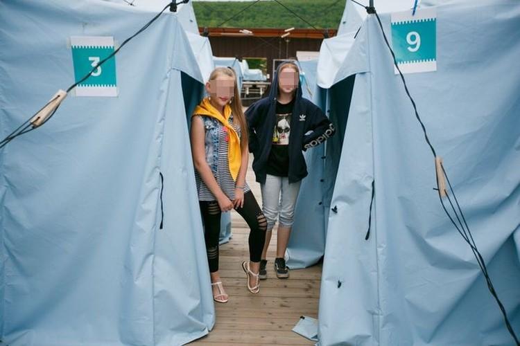 Те самые палатки, в которых жили дети. Фото: соцсети.