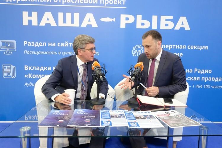 """Интервью в мобильной студии """"КП"""""""